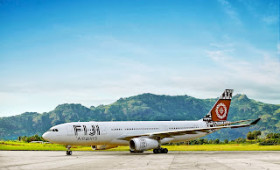Air Pacific's second Airbus A330 arrives in Nadi