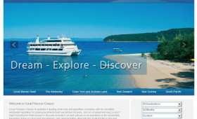 New website for Coral Princess Cruises