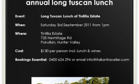 Diary Dates: Tintilla Estate Annual Long Tuscan Lunch