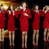 Virgin Atlantic crew uniform in magazine cover shoot