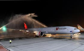 V AUSTRALIA INAUGURAL FLIGHT ARRIVES IN ABU DHABI