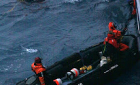Orion rescue of Frenchman Alain Delord in the Southern Ocean