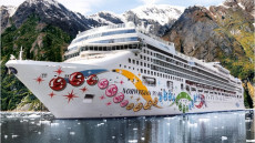 Dazzling paint schemes on cruise ships, not the latest fad.