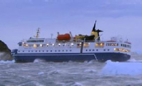 Cruise ship carrying 105 runs aground in Antarctica. All safe, ship appears undamaged.